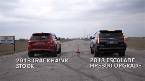jeep escalade hennessey escalade vs jeep trackhawk photo