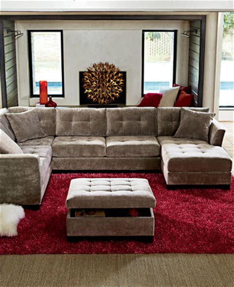 macys living room furniture elliot fabric sectional living room furniture collection
