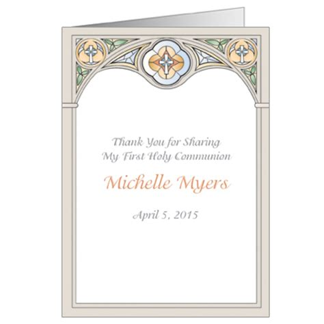 confirmation thank you card template stained glass invitation communion invitations