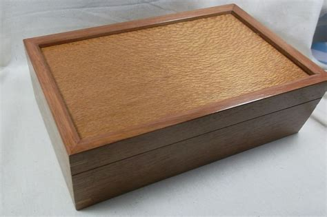 Handmade Jewellery Boxes - handmade jewellery box in jarrah and silky oak