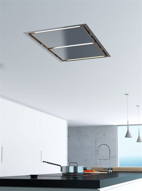 Island Range Hoods For Low Ceilings by Zephyr S New Island Range Mounts In Ceiling For