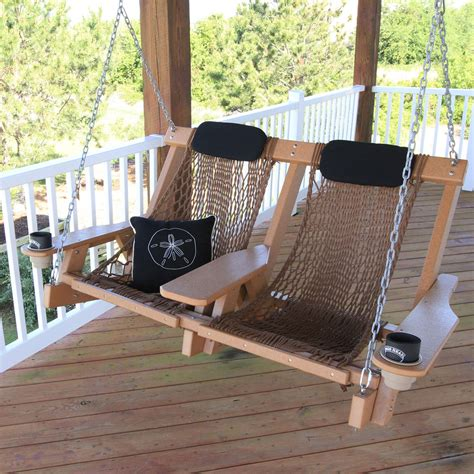 double rope swing cedar durawood deluxe double rope swing