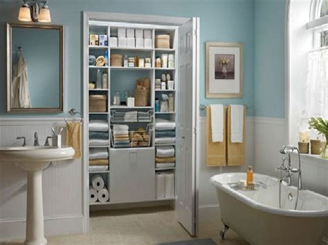 Bathroom Closet Organizer by Bathroom And Closet Designs Bathroom Closet Shelving By