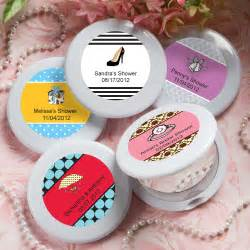 bridal shower personalized favors compact mirrors