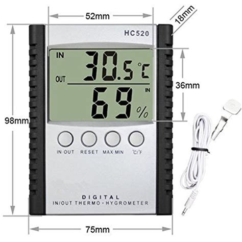 Wall Mount Desktop Temp Humidity Monitor Amt207 allytech tm weather humidity thermometer wall mount monitor sensor thermostat home office lcd