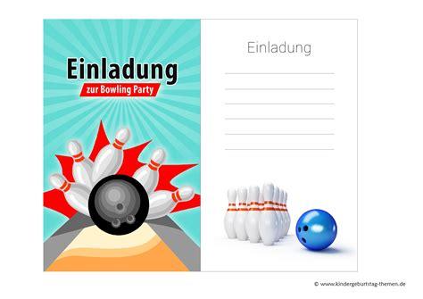 Einladungskarten Online Drucken by Einladungskarten Bowling Zum Kindergeburtstag Kostenlos