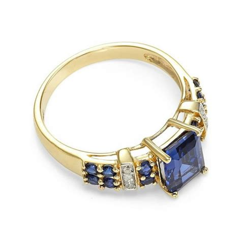 Cincin Yellow Sapphire Ah 52 cincin wanita model blue sapphire kotak ring size 6 usa