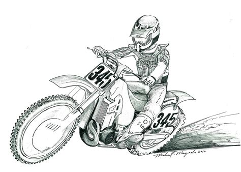 how to draw a motocross bike motocross helmet drawing