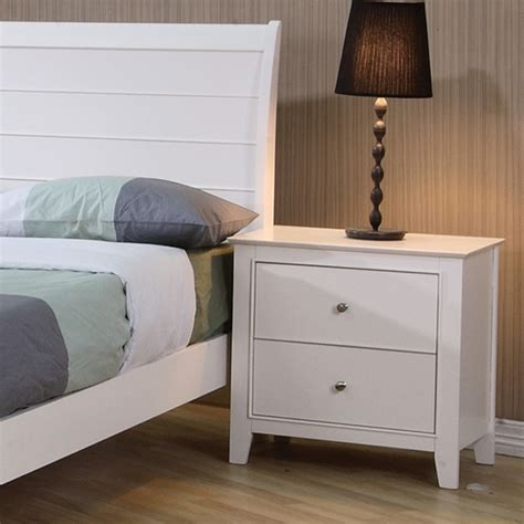 sandy beach white bedroom furniture dreamfurniture com sandy beach youth nightstand in white