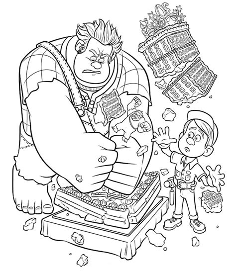 coloring for wreck it ralph coloring pages best coloring pages for