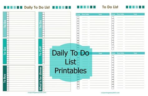 printable to do list for students daily to do list printables