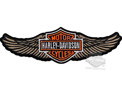 Aufnäher Patches Harley Davidson by Harley Davidson 174 Tan Straight Wing B S Large Patch