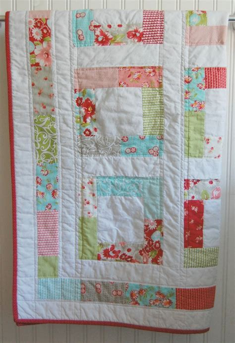 baby quilt moda ruby patchwork quilt baby blanket