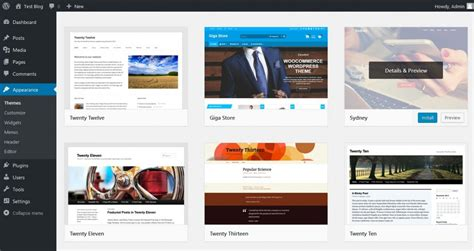 themes wordpress install how to change your wordpress theme for free