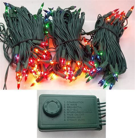 christmas lights set of 140 multi miniature christmas