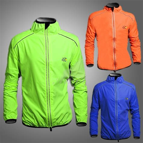 cycling rain jacket sale tour de france cycling waterproof wind rain bike coat long