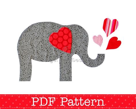 elephant applique template elephant applique template s day