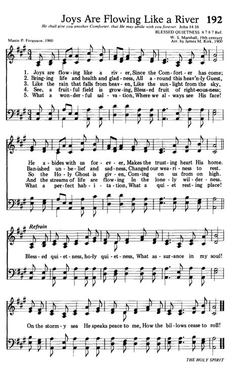 the comforter has come hymn hymns for the living church 192 joys are flowing like a