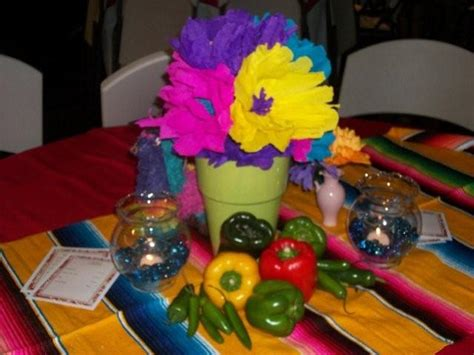 The Posh Pixie Mexican Party Table Decorations Mexican Centerpieces Ideas