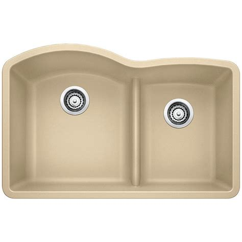 Composite Undermount Kitchen Sinks Blanco Undermount Granite Composite 32 In 0 1 3 4 Basin Kitchen Sink In Cafe Brown