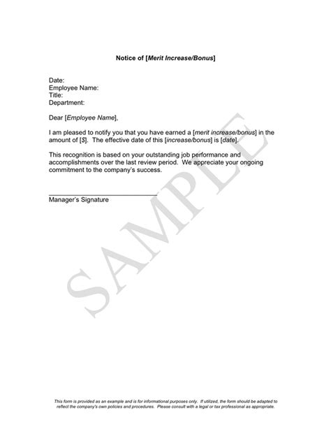 Pay Raise Letter Sles Employer merit raise letter sles 28 images thank you letter to