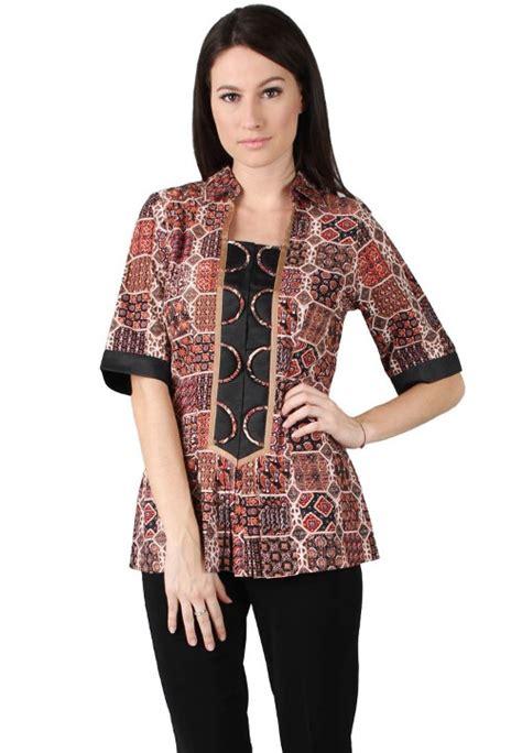 Lulu Set Blouse Wanita design baju batik kantor model baju batik modern auto design tech