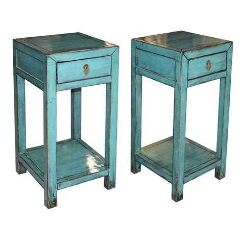 Blue Side Table Blue Side Table At 1stdibs
