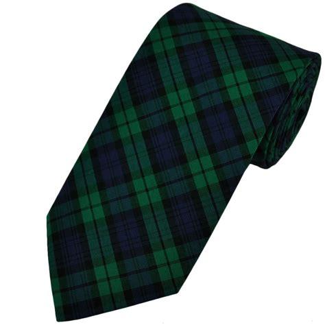 black tartan patterned tie by buck from ties