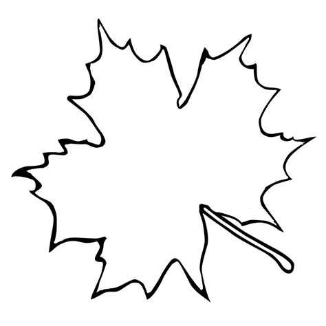 maple leaf outline az coloring pages