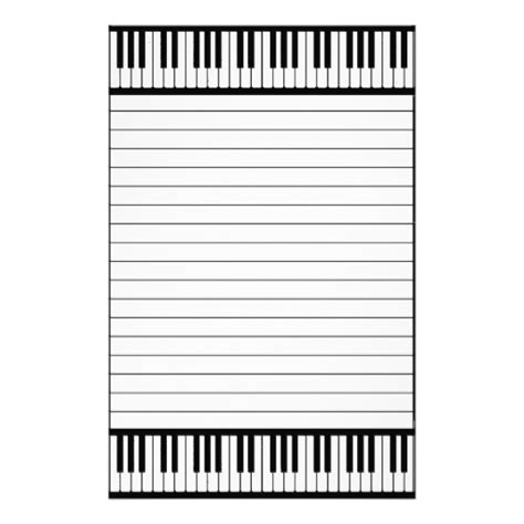 printable black and white stationery piano keys black and white pattern lined stationery zazzle