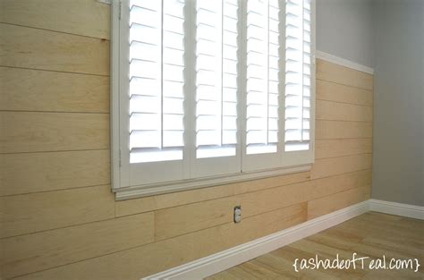 White Paneling For Bathroom Walls - diy faux shiplap wall a shade of teal