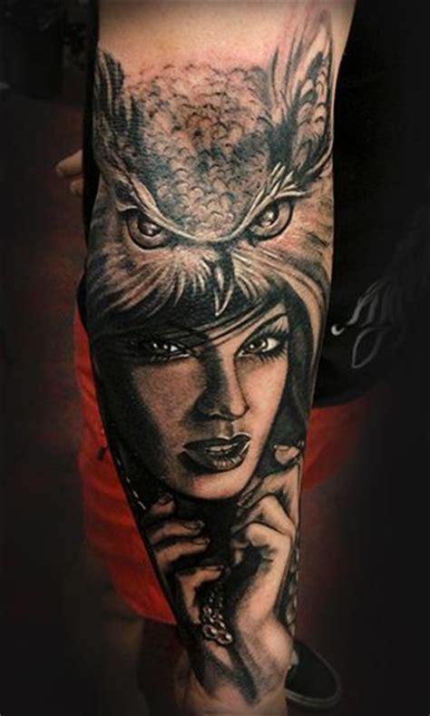 owl tattoo portrait owl lady by miss marshall tattoonow