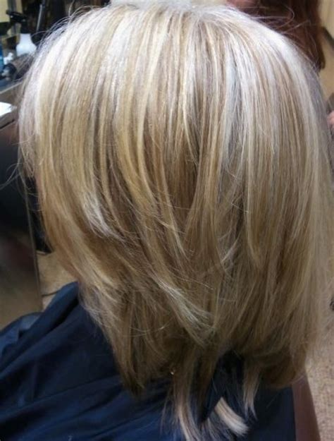 silver white hair with brown lowlights 90 gray blended with highlights and lowlights i m a