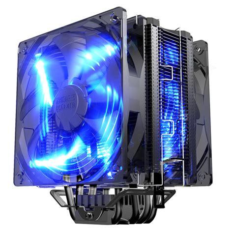 dual fan 12cm with pwm 5 heatpipe heatsink cpu cooler fan