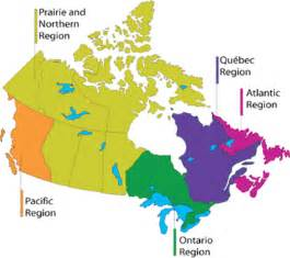map of canada with regions regions transport canada