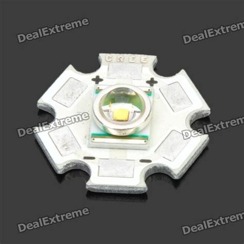Krisbow Bohlam Led Warm White 3w 3w 20mm cree p4 aluminum pcb board with warm white led light silver