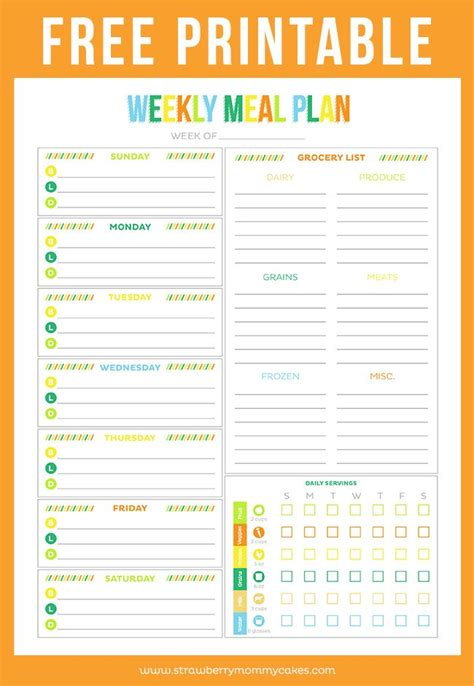 printable kitchen planner template free printable budget sheet weekly meals weekly meal