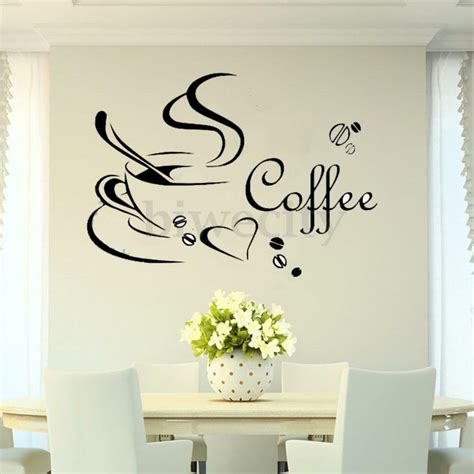 home decor decals coffee cup diy removable vinyl wall sticker decal