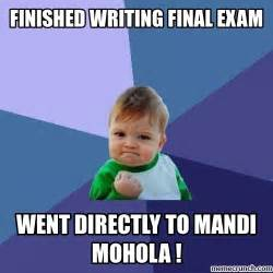 finished writing final exam