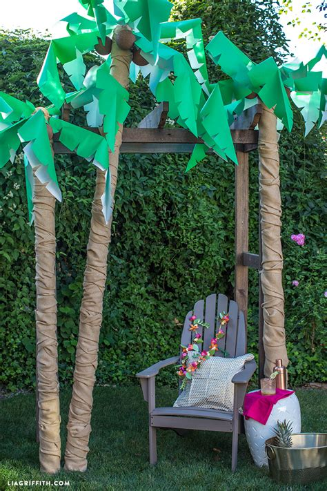 How To Make Palm Tree Leaves Out Of Paper - diy palm tree decor lia griffith