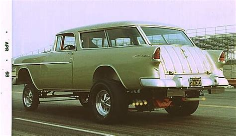 nomad drag car 55 chevy nomad gasser gassers pinterest cars