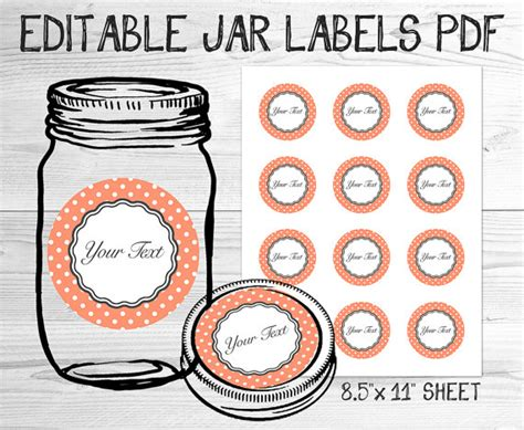 canning jar labels template unavailable listing on etsy