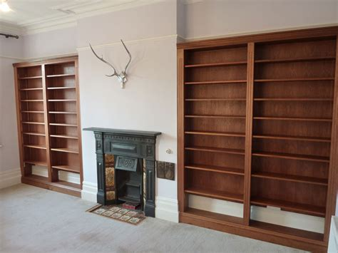 hardwood fitted bookcases custom built by henderson