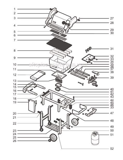 weber genesis parts diagram weber 2281001 parts list and diagram ereplacementparts