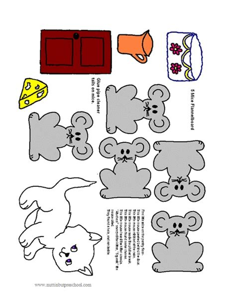 felt storyboard templates five mice on the kitchen floor flannel board nuttin but