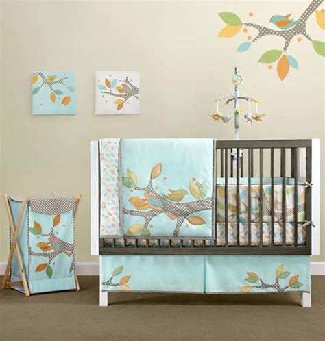 Birds Inspired Wall Decoration Ideas For Kids Modern Kids Nature Themed Crib Bedding