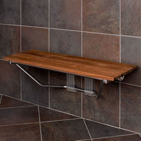 teak shower bench modern folding built in teak shower bench