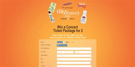 Concert Sweepstakes - sweepstakeslovers daily dippin dots palmer s more
