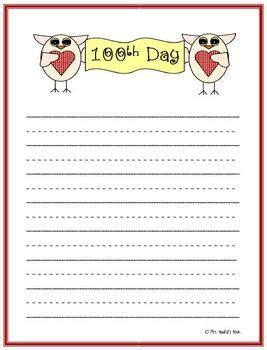 100th day writing paper 100th day writing paper by naufal teachers pay
