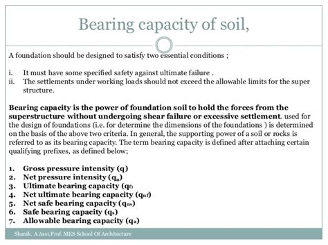 Selection Of Foundation Based On Soil Condition Ppt